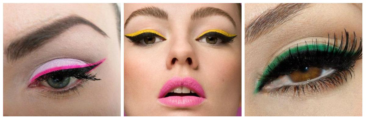 вечерний макияж: стрелки-крылья