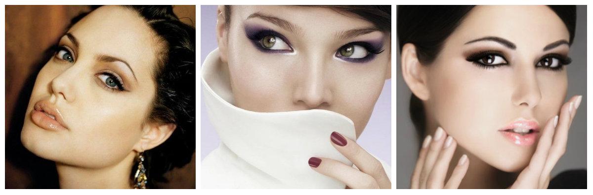 вечерний макияж: растушеванные стрелки
